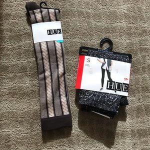 HUE Leggings and socks bundle